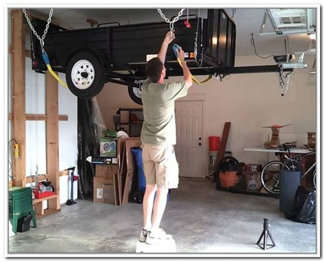 Garage Pulley Storage System by Overhead Garage Storage Systems Do It Yourself Home