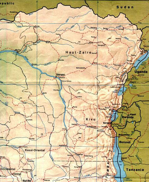 africa map zaire nationmaster maps of congo democratic republic of the