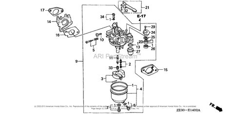 honda gx340 engine parts diagram honda gx160 parts diagram