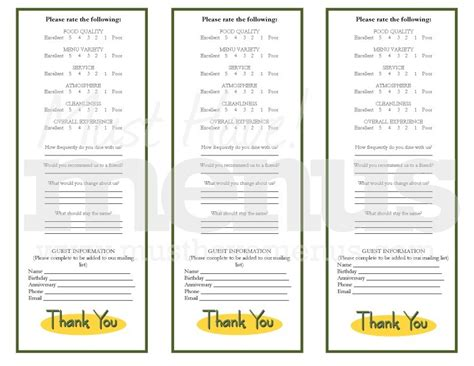 restaurant comment card template restaurant customer comment card template cblconsultics tk