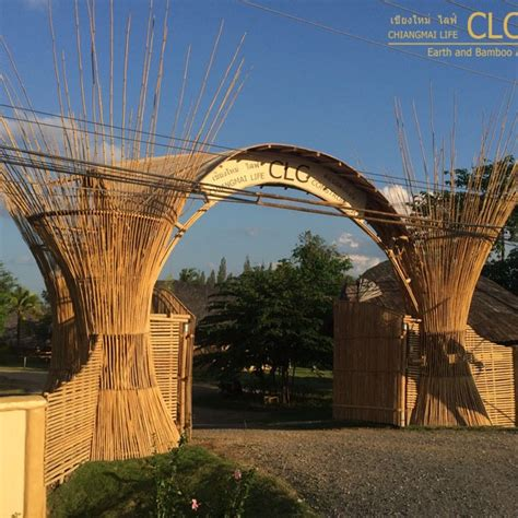 entrance gate  clc bamboo architecture cla