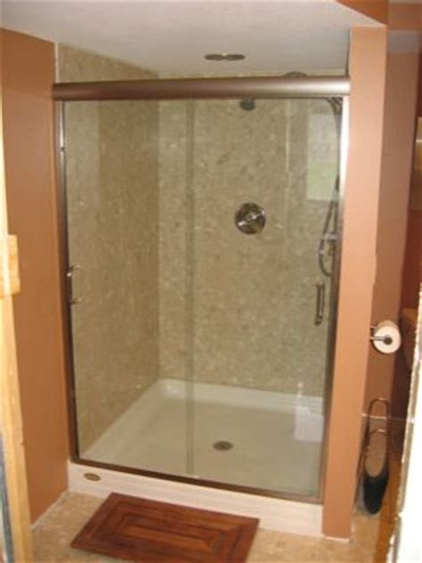What Is A Bypass Shower Door Semi Frameless Bypass Shower Door With Standard Edge Mounted Towel Bars Chrome Framing With