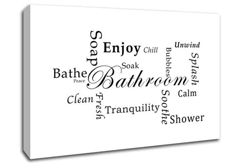 bathroom quotes online bathroom tranquility white text quotes canvas stretched canvas