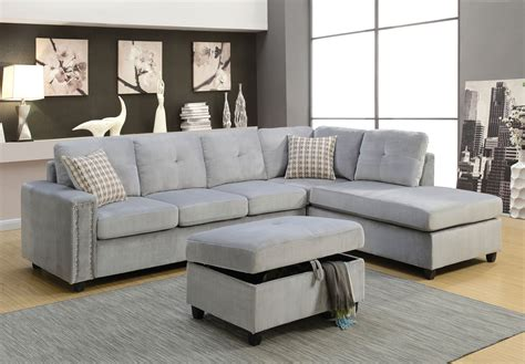 Gray Sectional Sofa Belville Beige Sectional And Ottoman 52705