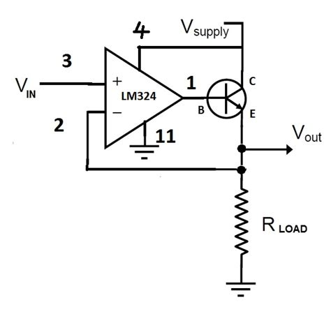 transistor lifier problems op problem with a voltage follower transistor circuit electrical engineering stack exchange