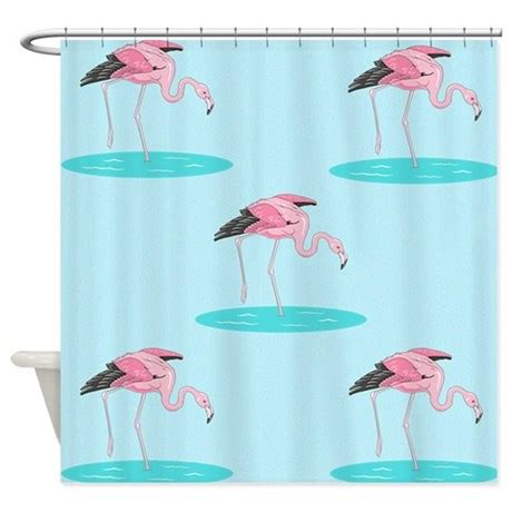 Flamingo Shower Curtains Pink Flamingo Shower Curtain By Cafepets