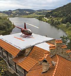 Tiny Cabin Homes add a heliport to your home business jet traveler