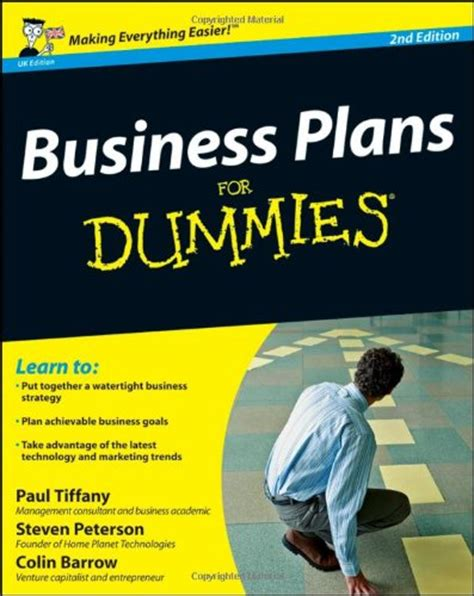 Business Plan For Dummies Business Plan Business Intelligence Pdf A Strategic Planning Template For Dummies