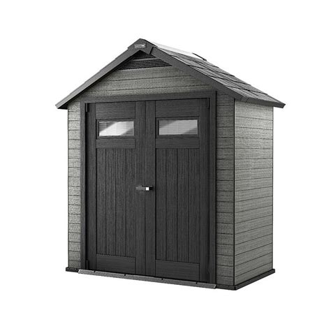 Craftsman Versatrack Shed by Craftsman 7 6 Quot X 4 Wood Plastic Composite Storage
