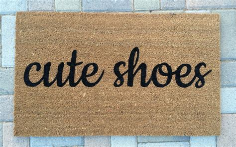 Welcome Mats by Shoes Doormat Painted Outdoor Welcome Mat