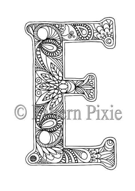 E T Coloring Pages by Colouring Page Alphabet Letter E Letras
