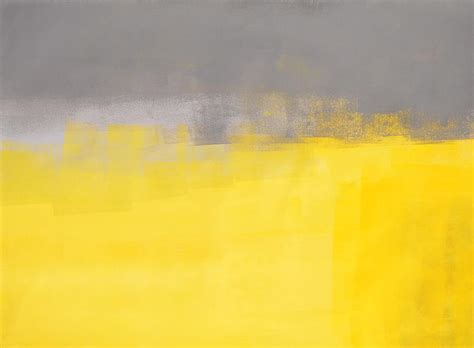 a simple abstract grey and yellow abstract painting painting by carollynn tice