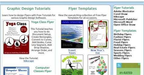 Website That Teaches Flyer Creation With Corel Draw Inkscape Adobe Graphics Pinterest Flyer Publisher Template