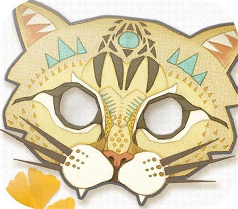 printable halloween cat masks printable diy halloween fierce cat mask by hunterandmoon