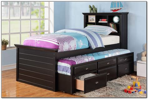 twin trundle bed with storage twin trundle bed with storage beds home design ideas