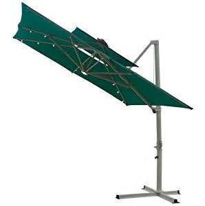 Southern Patio Offset Umbrella Southern Patio 8 5 Foot Square Offset Top Solar Umbrella Green
