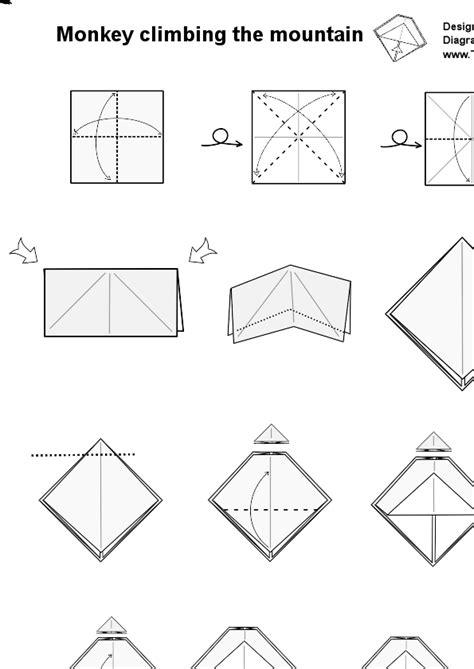Origami Monkey Diagram - monkey origami images craft decoration ideas