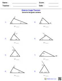 Interior Angle Of A Polygon Formula Geometry Worksheets Triangle Worksheets