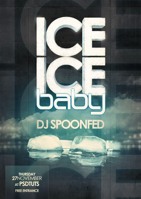 design magazine cover photoshop tutorial how to create an ice cold poster with 3d text