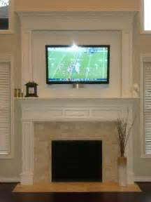 Fireplace Mantel Ideas With Tv by Fireplace Designs With Tv Above