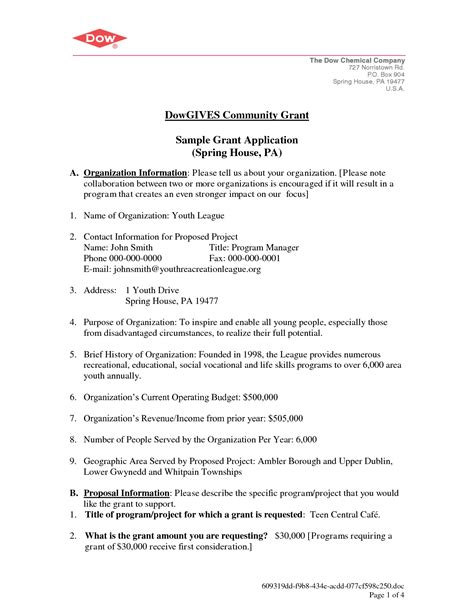 request proposal cover letter dowgives community grant