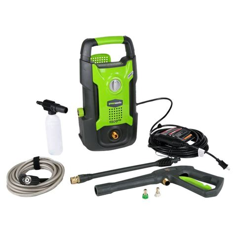 Highest Rated Kitchen Faucets by Greenworks 1500 Psi 1 2 Gpm Electric Pressure Washer