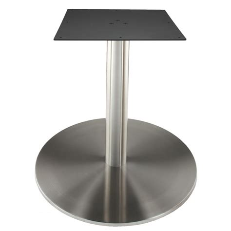 stainless steel dining table base rfl750 stainless steel table base tablebases com