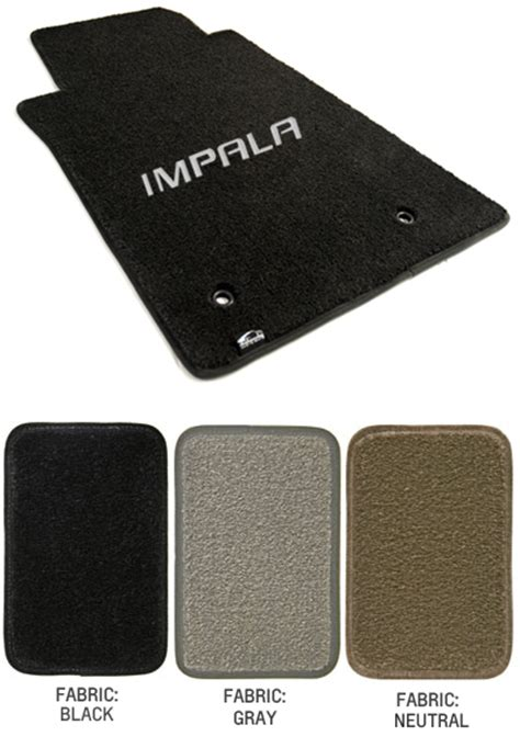 Chevy Impala Floor Mats by 2006 2013 Impala Logo Floor Mat Set Choose Color