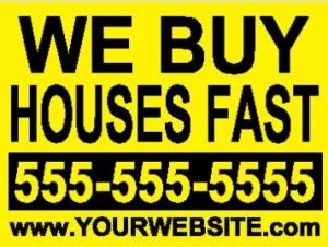 we buy houses bandit signs marketing monday i ve been caught struggling investor