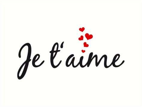 Je Taime by Quot Je T Aime I You Word With Hearts
