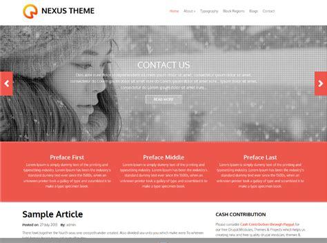 drupal themes nexus free drupal themes developers top picks vardot