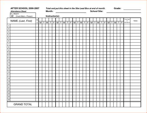 100 attendance sheet template pdf attendance register and