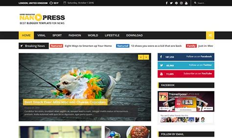 blogger themes colorful nanopress blogger template