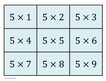 printable times tables cards printable multiplication fl by robin sellers teachers