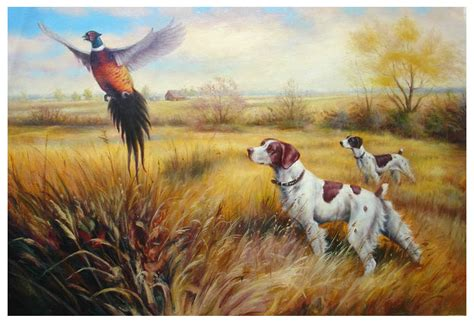 canvasstyle imaginary house hunt popular hunting dog paintings buy cheap hunting dog