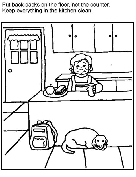 coloring pages for food safety kids games activities fight bac