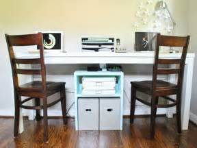 ordinary 2 Person Desk Home Office Furniture #1: Small-Design-2-Person-Desk.jpg