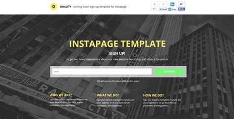 themeforest instapage duality instapage sign up template by 0000hex themeforest