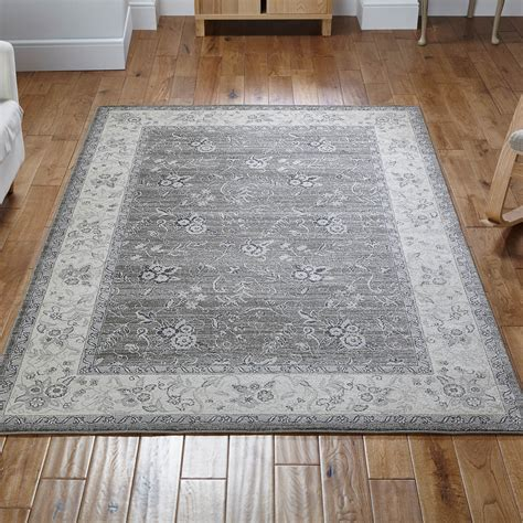 richmond rug 601q in grey and beige free uk delivery