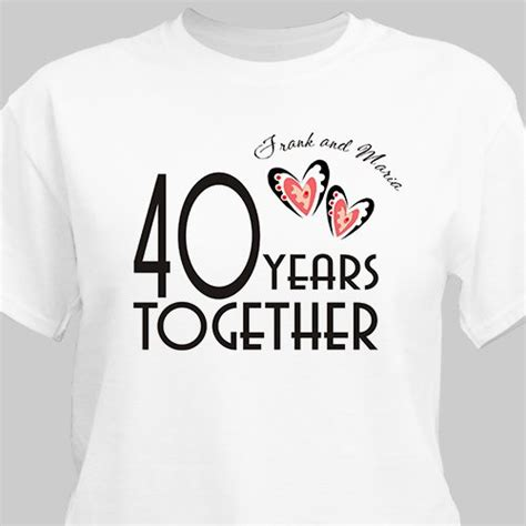 Wedding Anniversary T Shirts by Years Together Personalized Anniversary T Shirt