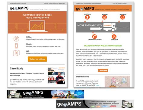 design email header geoamps marketing materials on behance