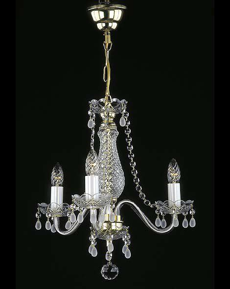 Small Glass Chandeliers Small Chandelier With Smoked Glass Droplets Ceiling