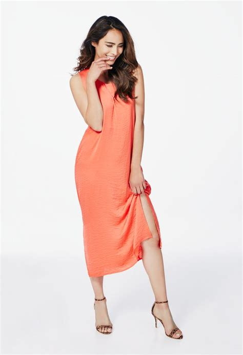 7430 Puspamaya Maxi flowy maxi dress in coral get great deals at justfab