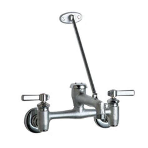 garage faucet with vacuum breaker spout wall brace and