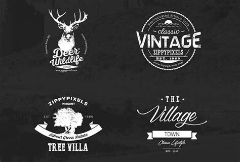 free logo design kit 30 free vintage logo templates in psd eps format 2017