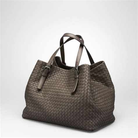Botegga Venetta by Bottega Veneta Krim Intrecciato Nappa Tote In Black