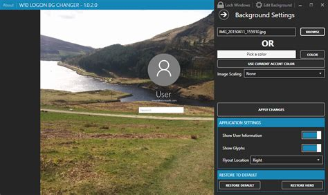 wallpaper changer software for windows 10 how to disable or change the sign in background image in