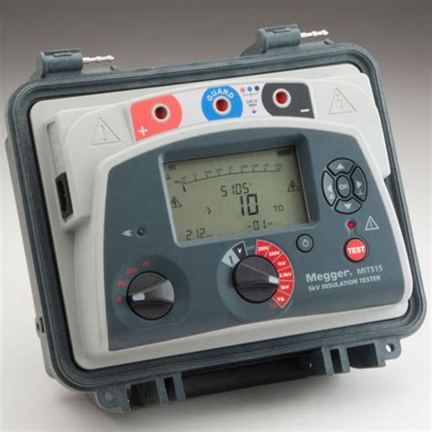 Alat Test Megger megger mit515 high voltage insulation resistance tester