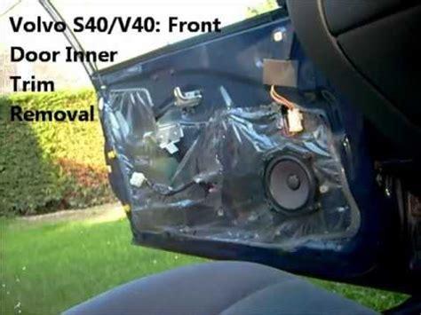 front door  trim removal volvo   youtube