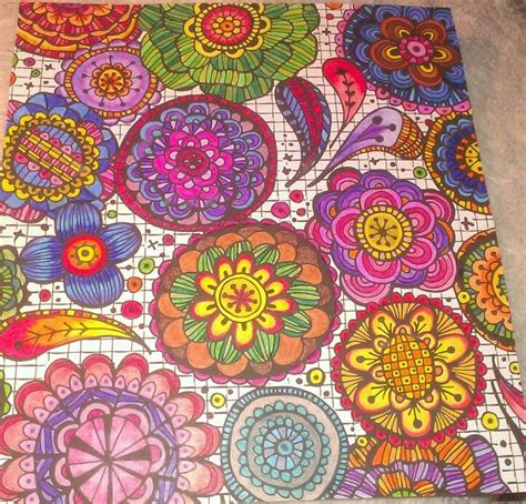 coloring books for adults finished 17 best images about living color on